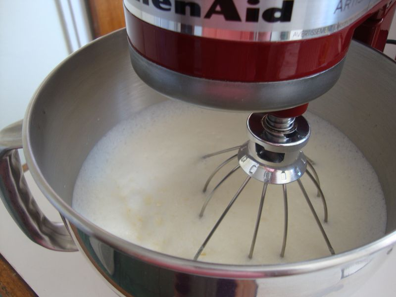 Look what a light and fluffy batter KitchenAid makes