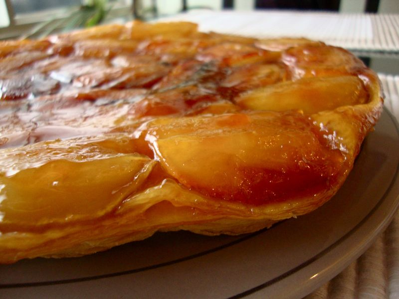 Apple Tarte Tatin (check out the puff pastry!)
