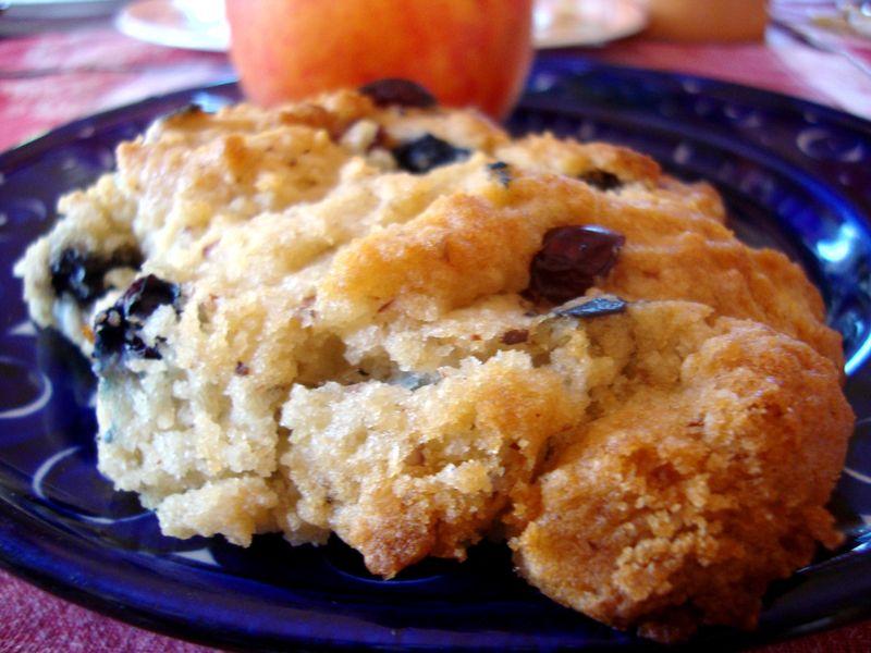 Dad's gluten free blueberry scones