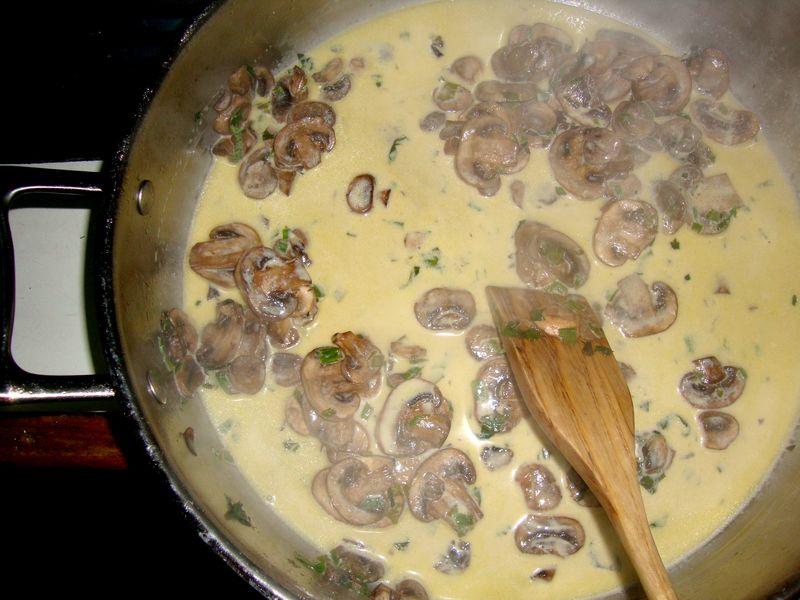 The mushroom sauce