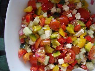Mediterranean pepper salad
