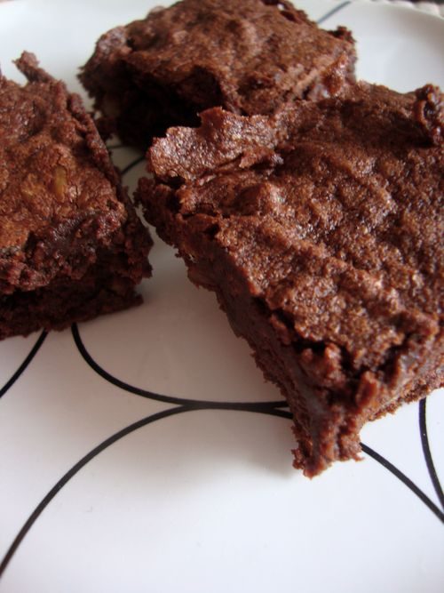 Richest cocoa brownies with walnuts