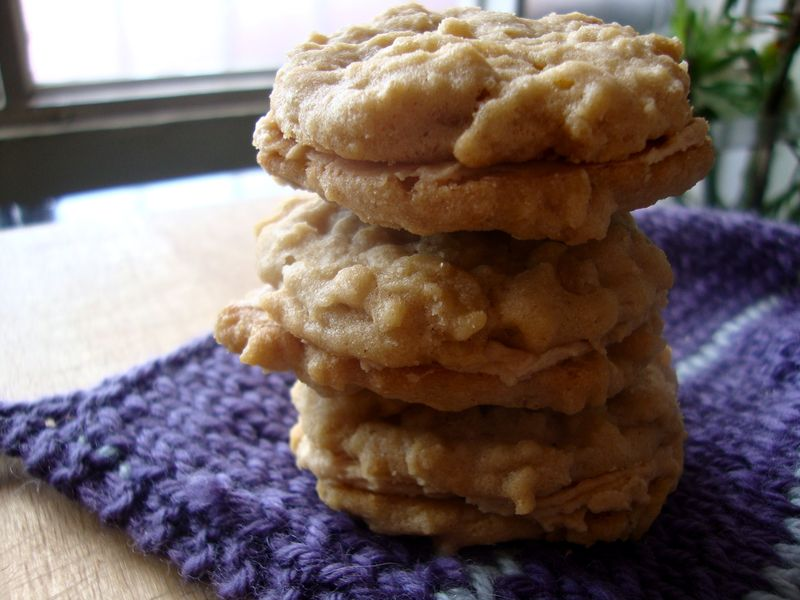 Peanut butter oatmeal sandwich cookies