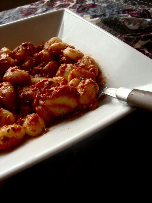 Gnocchi with tomato pesto