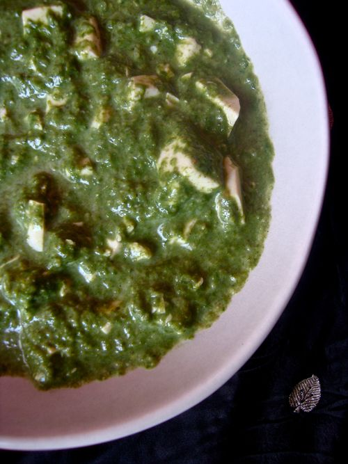 Spinach and tofu paneer