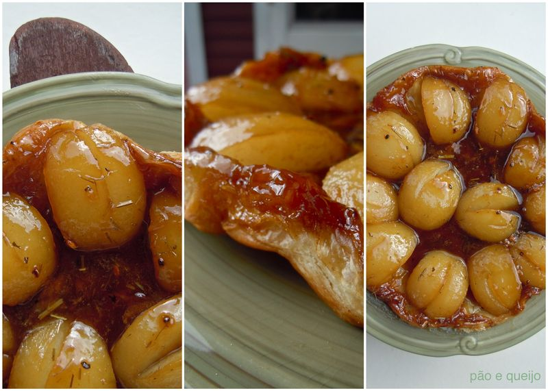 Tea-infused Asian pear tarte tatin