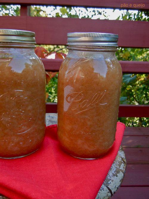 Chunky honey-sweetened applesauce