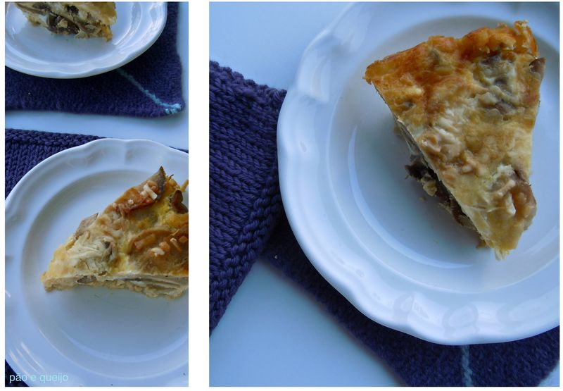 Ommegang quiche with purple turnips and mushrooms