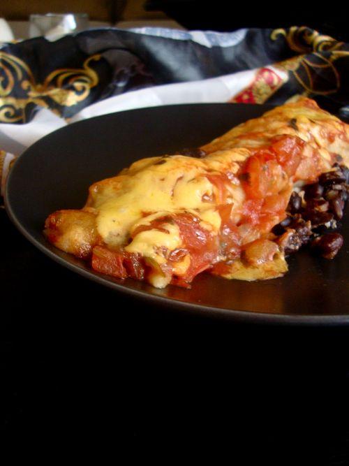 Black bean burrito bake