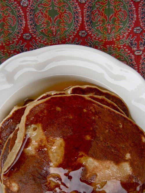 Apple ricotta pancakes
