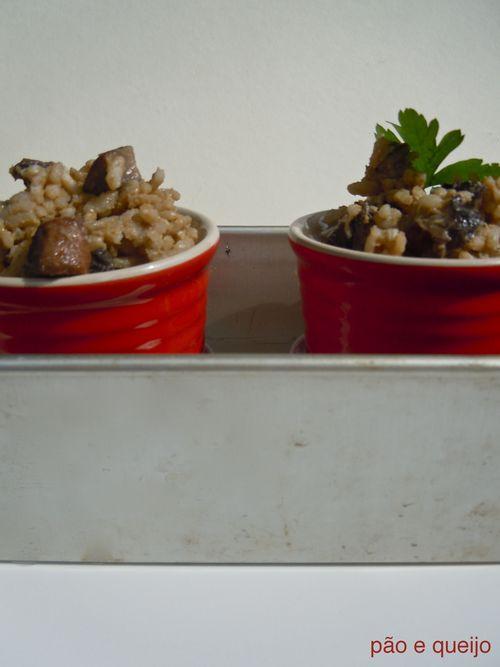Mushroom and shallot risotto