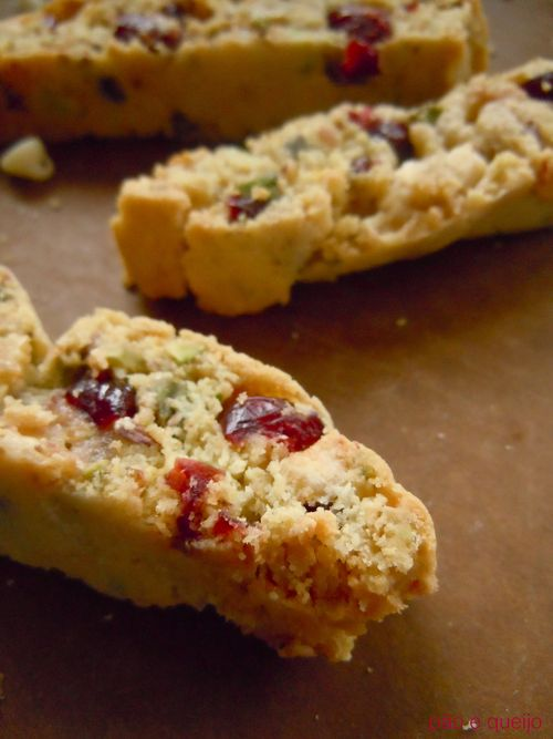 White chocolate, cranberry, and pistachio biscotti