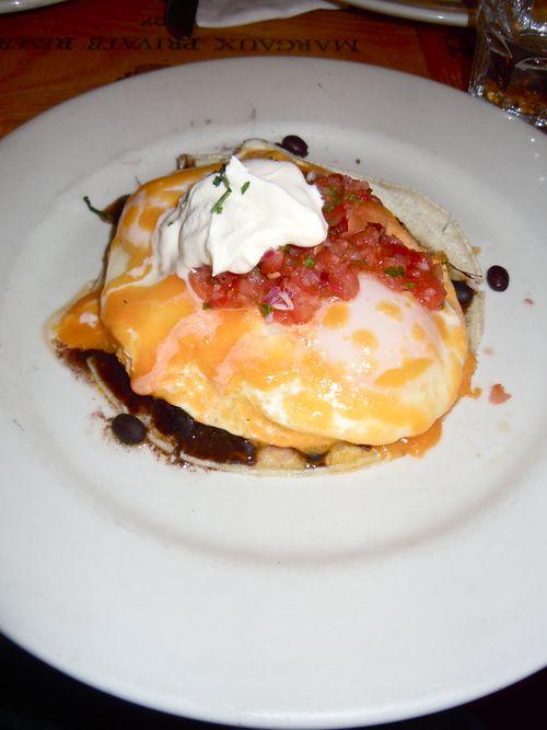 Huevos rancheros from Cornelia Street Café, NYC