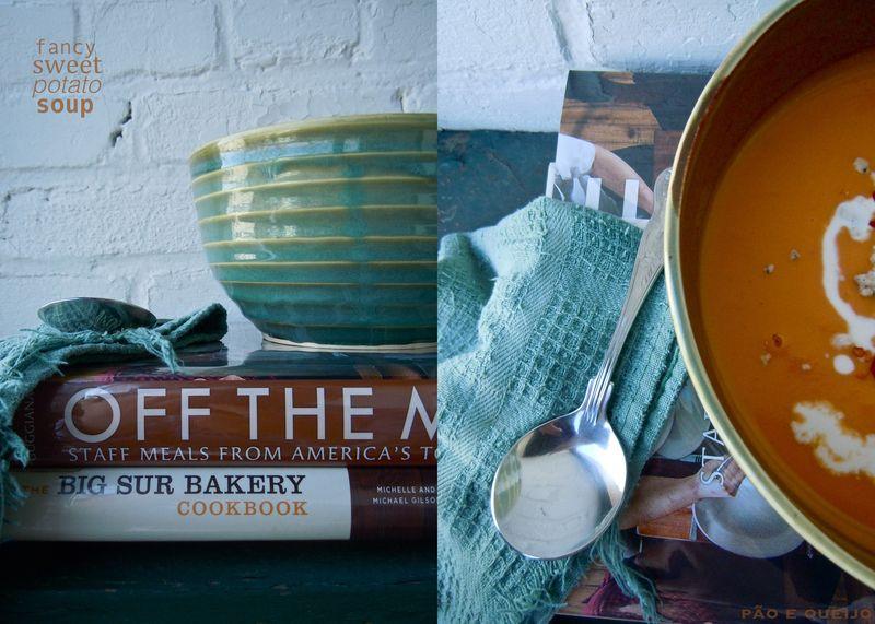 Creamy Sweet Potato Soup with Gorgonzola