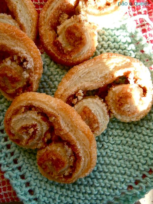Cinnamon sugar palmiers with pecans