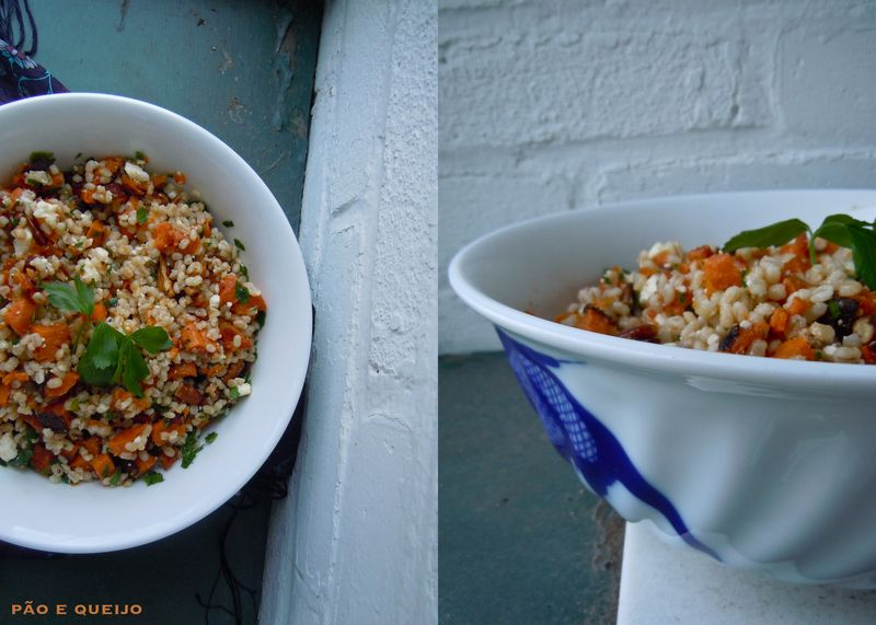 Barley Salad with Sweet Potato, Pecans, and Feta
