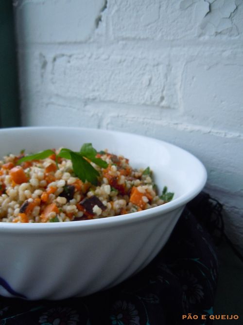 Barley Salad with Sweet Potato, Pecans, and Feta